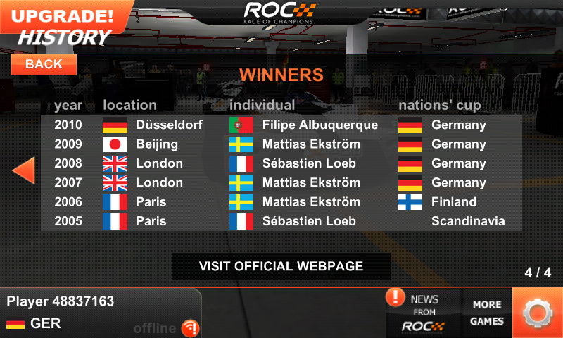 Race of Champions Android Spot the error!