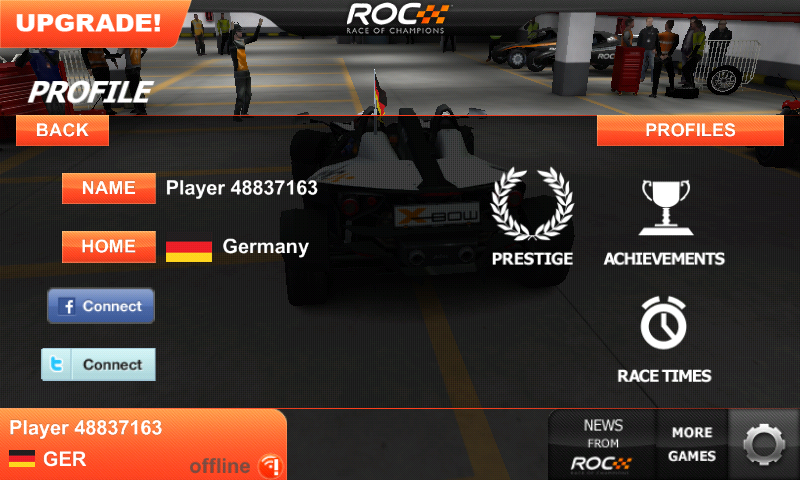 Race of Champions Android Player profile