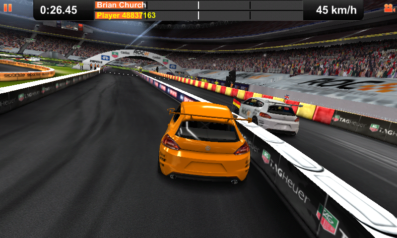 Race of Champions Android Head to head in a Volkswagen