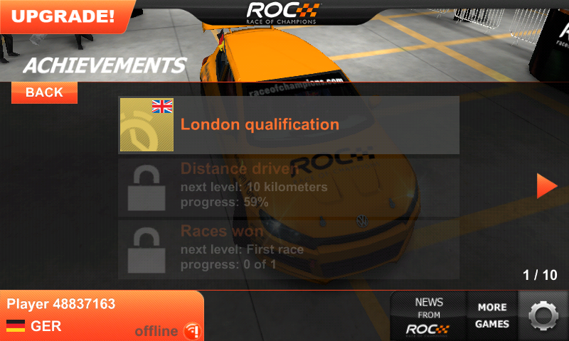Race of Champions Android Achievements