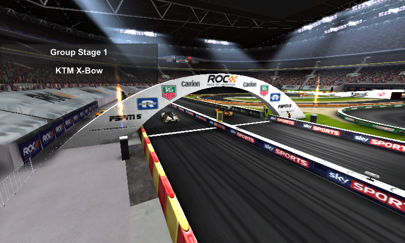 Race of Champions Android Racers lining up