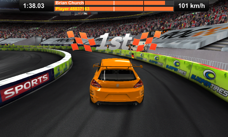 Race of Champions Android I won a race