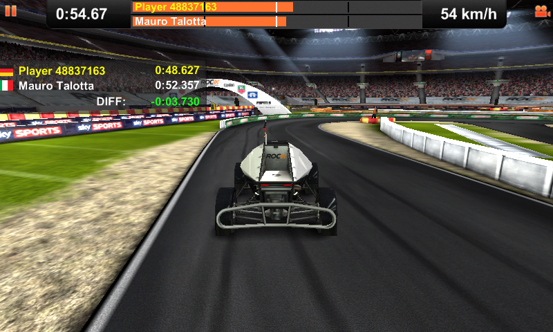 Race of Champions Android Lapse times being shown