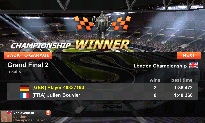 Race of Champions Android Winning the champion