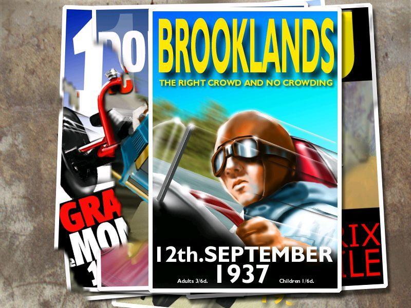 Spirit of Speed 1937 Windows Here another scenario at Brooklands race track has been selected and the new poster is 'pasted' over the poster for the last scenario attempted.