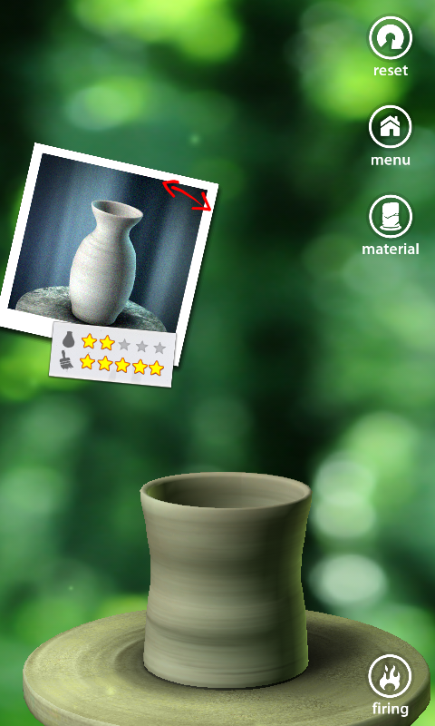 Let's Create! Pottery Android The stars show how close I am