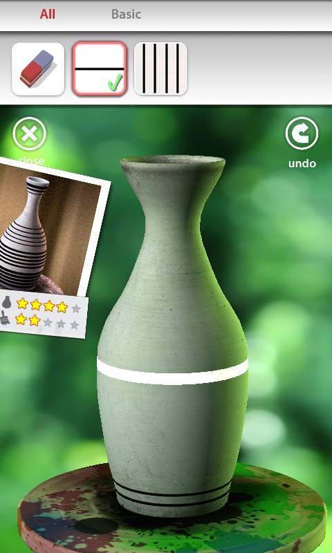 Let's Create! Pottery Android Drawing lines