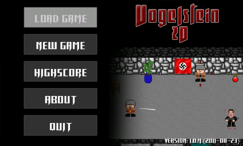 Vogelstein 2D Android Main menu
