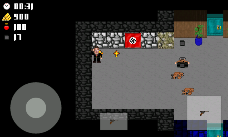 Vogelstein 2D Android Shoot dogs and soldiers, collect treasure; it's all very familiar.