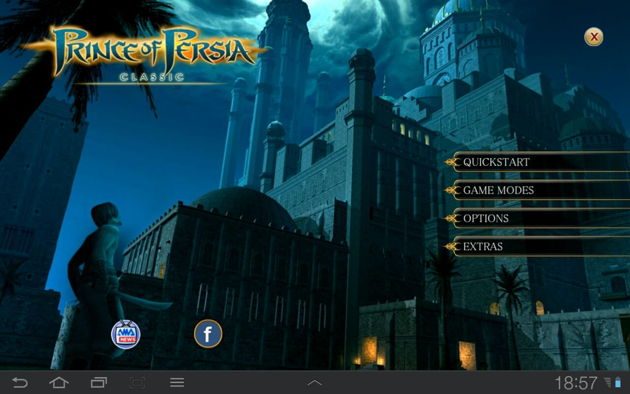 Prince of Persia Classic Android Title Screen