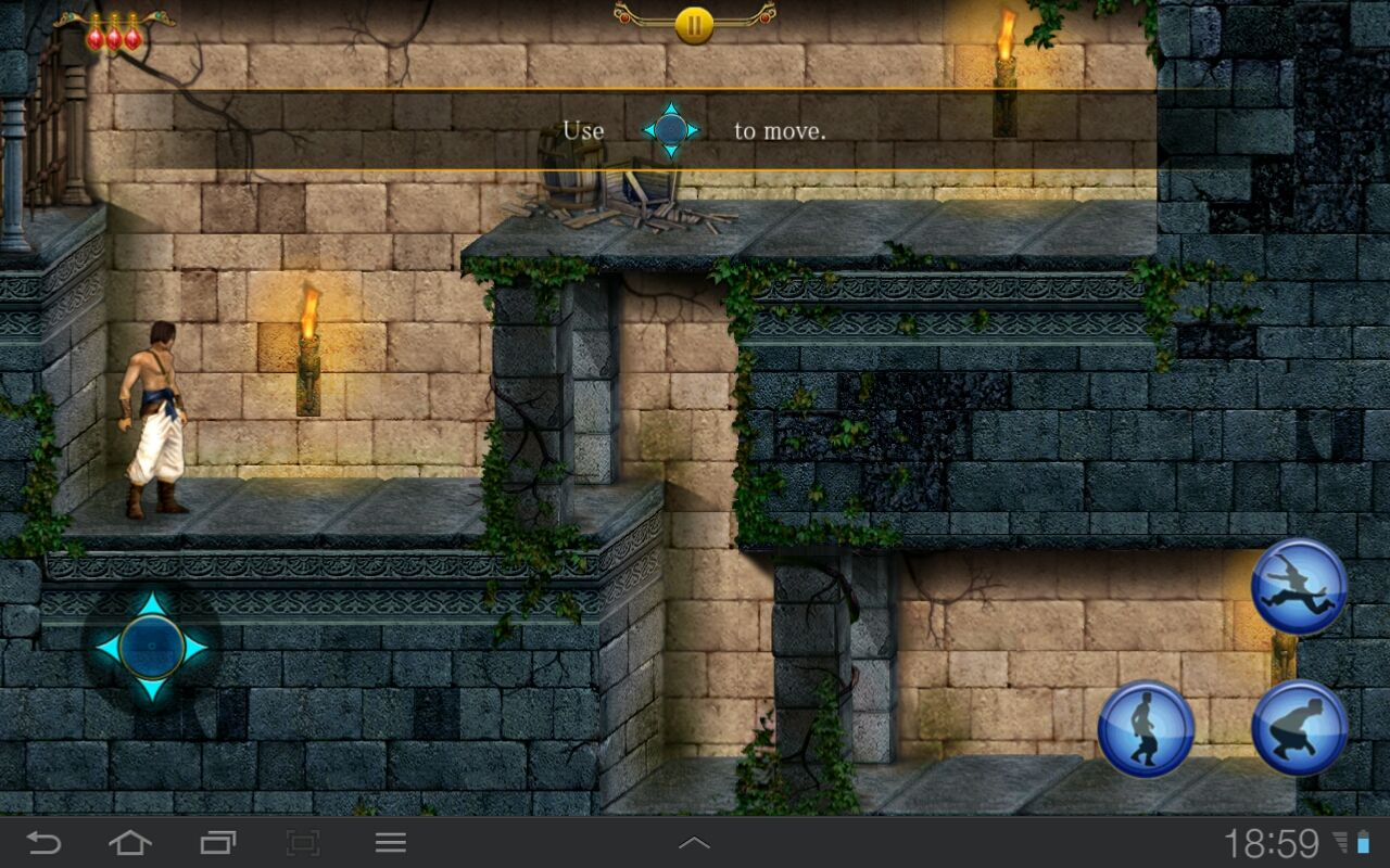 Prince of Persia Classic Android Starting the game