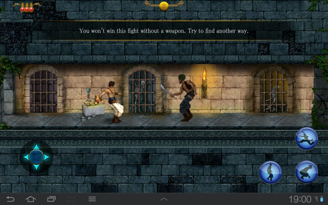 Prince of Persia Classic Android Yeah, you can't defeat a guard without a sword