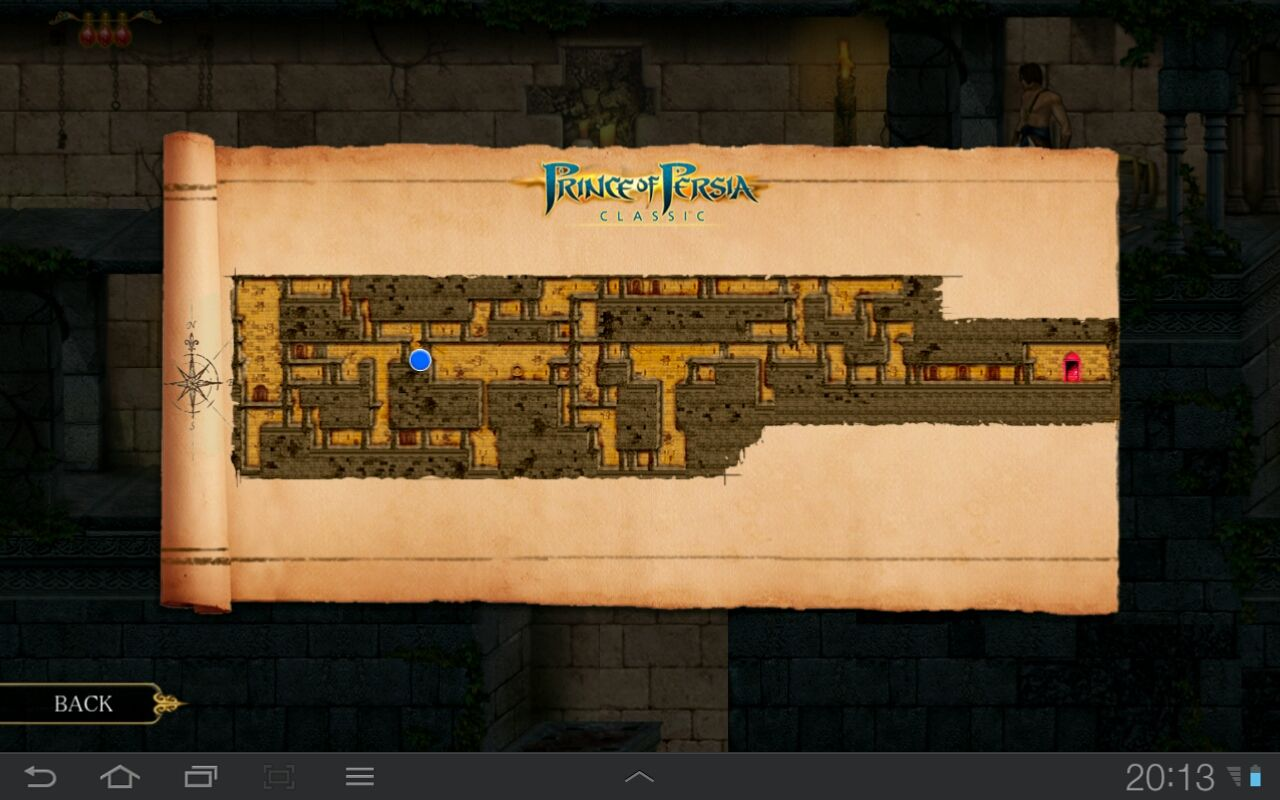 Prince of Persia Classic Android Each level has a map to make the game more friendly