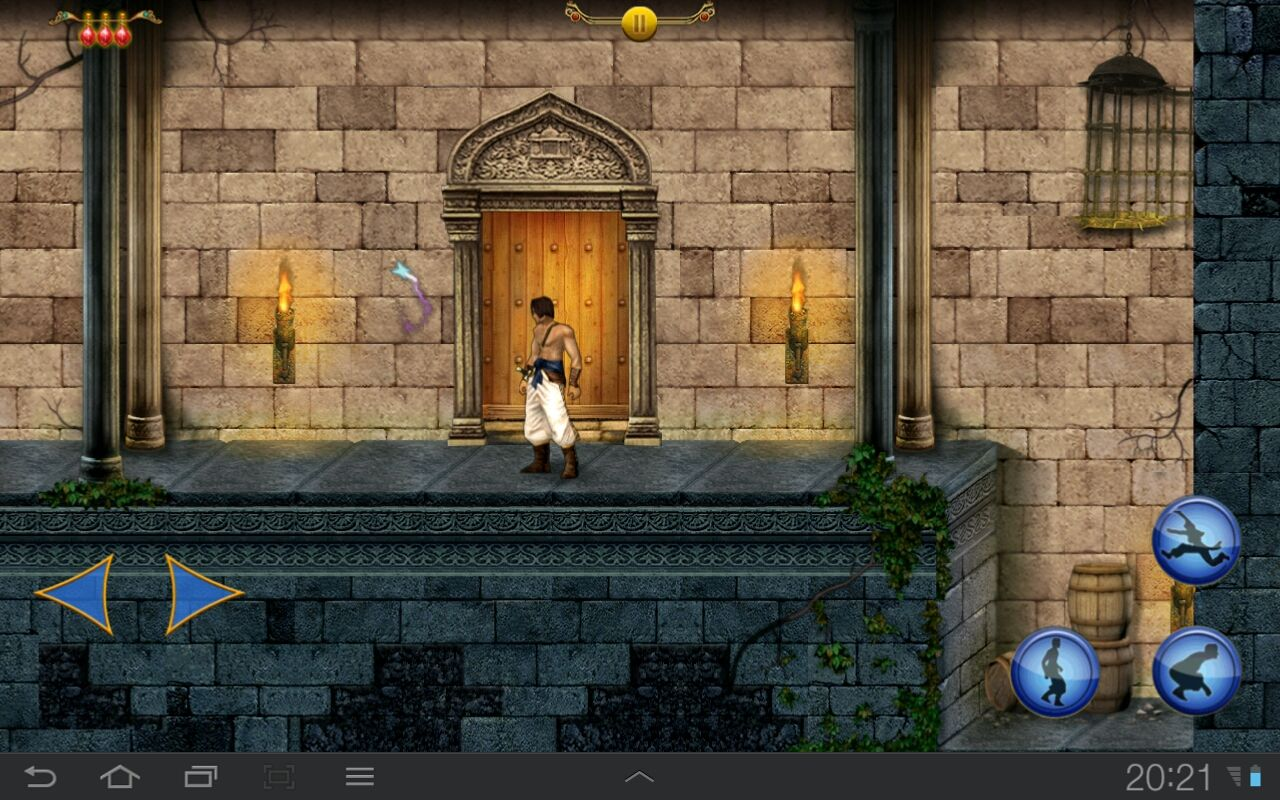 "Prince of Persia Classic Android This ""Butterfly"" helps navigate. Hey, we didn't need this back in 1989!"