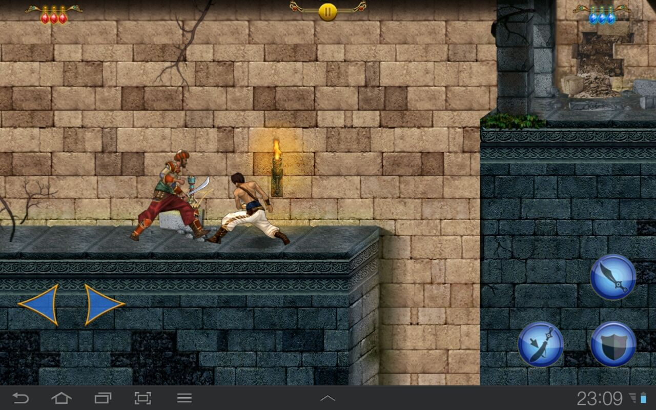 Prince of Persia Classic Android Fighting a guard