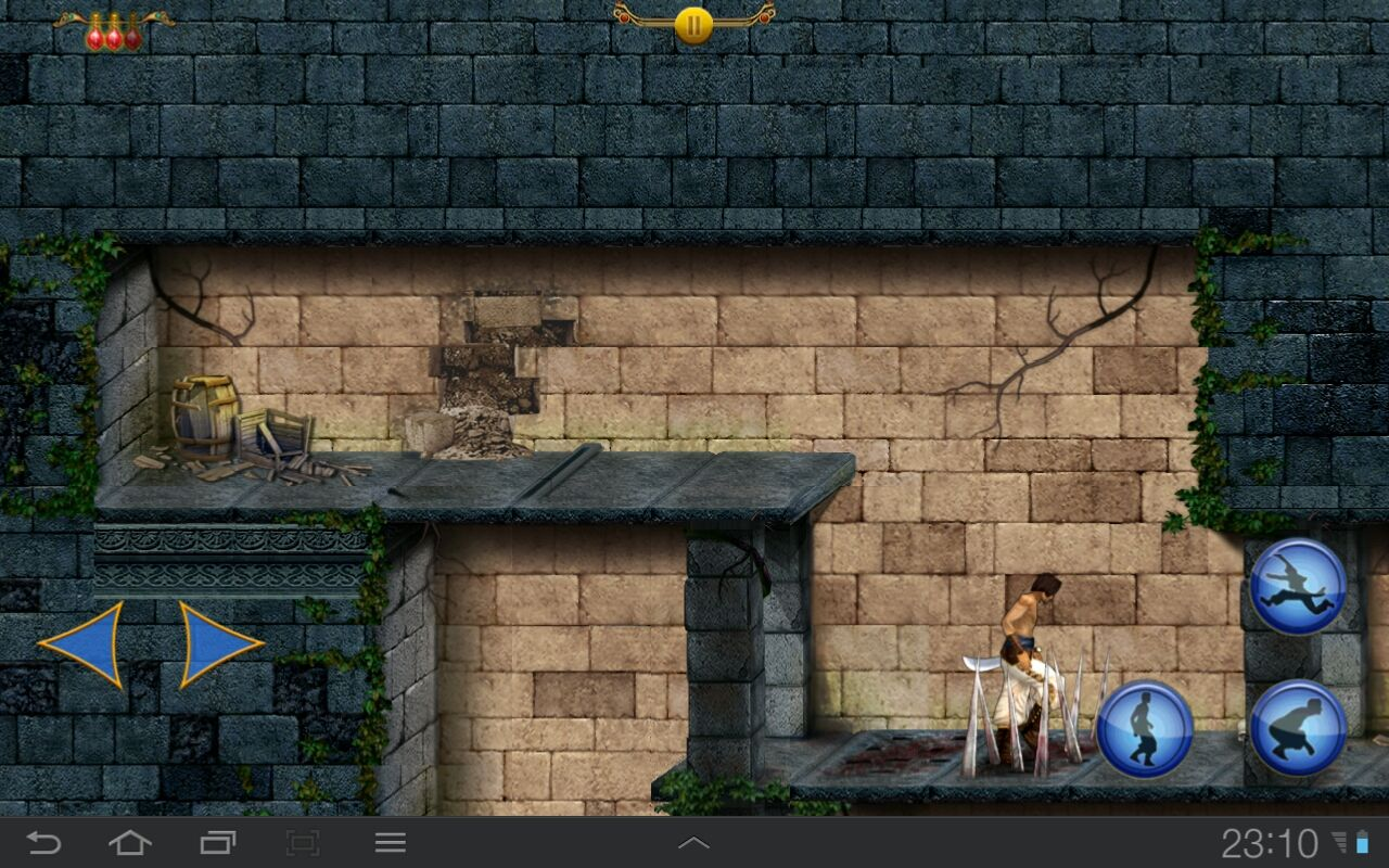 Prince of Persia Classic Android Walking carefully across the spikes