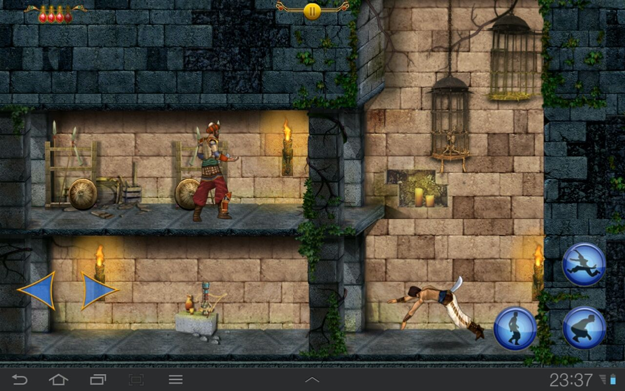 Prince of Persia Classic Android Practicing acrobatics before the fight