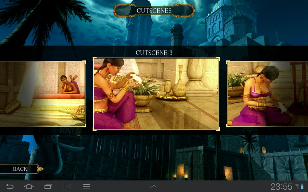 Prince of Persia Classic Android Watch unlocked cutscenes in the Movie theater