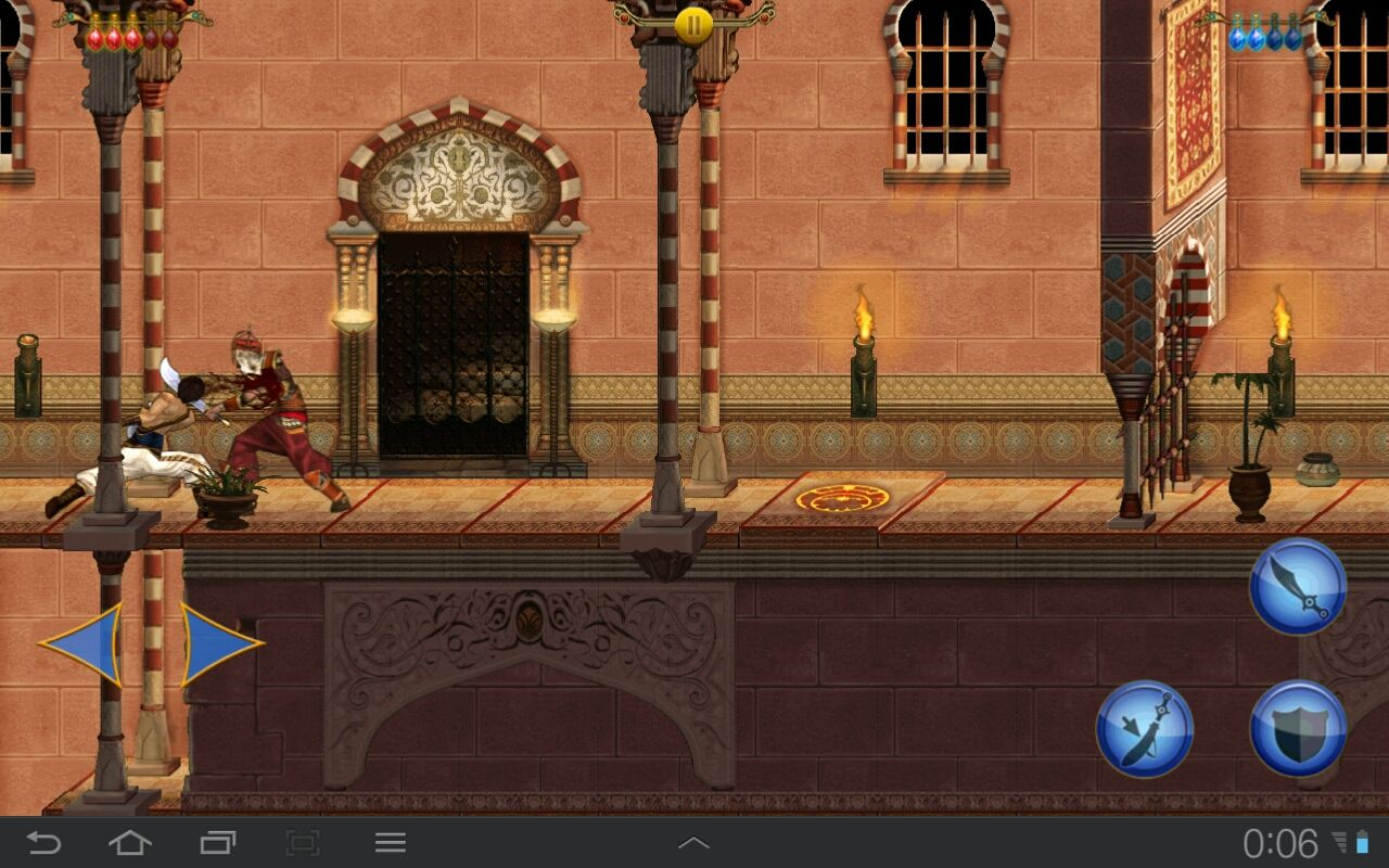Prince of Persia Classic Android The guards in the upper palace wear better armor