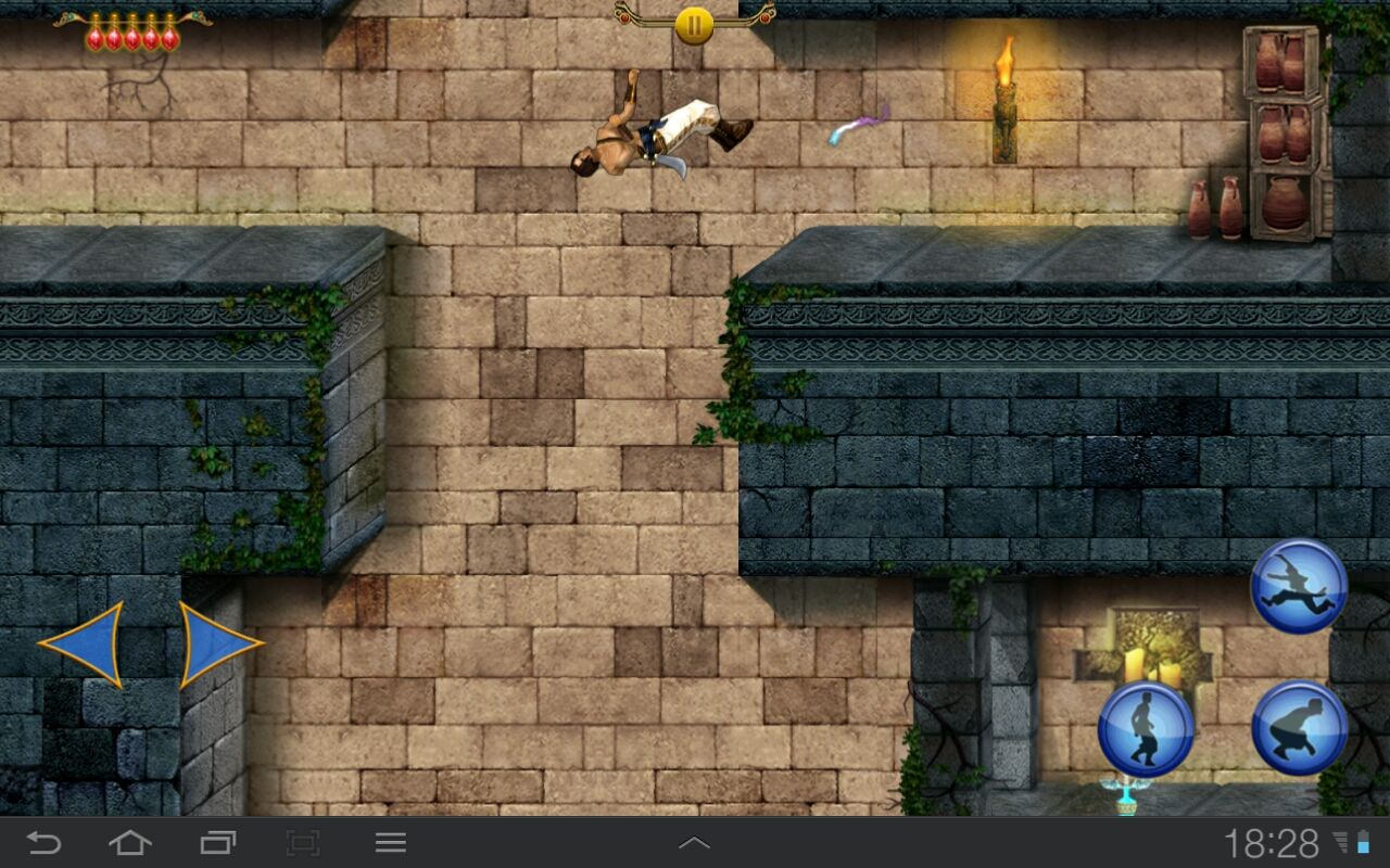 Prince of Persia Classic Android Prince is just showing off