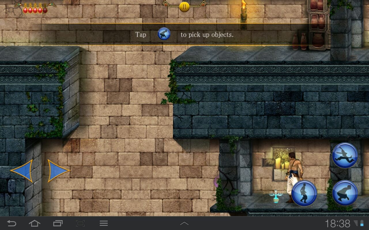 Prince of Persia Classic Android This potion will make light as feather