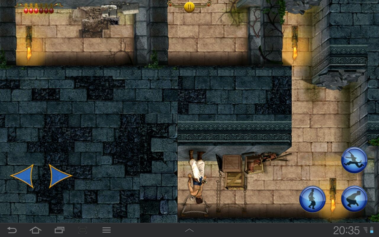 Prince of Persia Classic Android A bug? No. Just a screen-reversing potion.