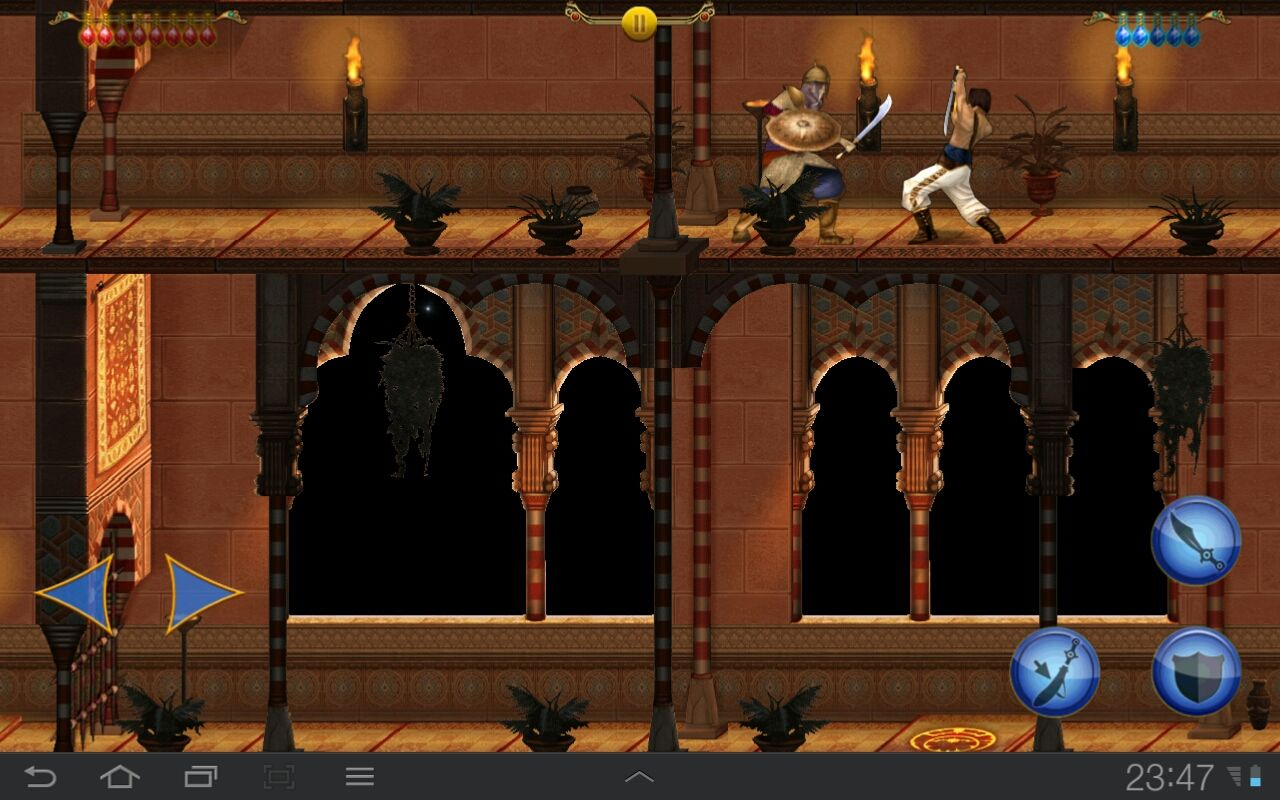 Prince of Persia Classic Android Further on the guards wear armor and are equipped with shields