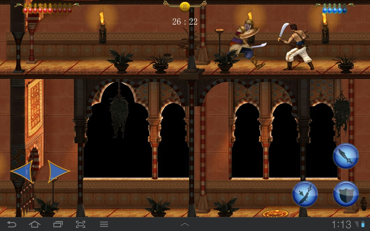 "Prince of Persia Classic Android ""Time Attack mode"". Precious 60 minutes are ticking away..."