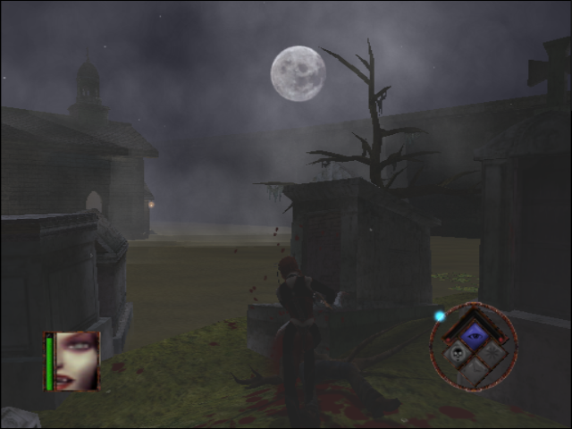 BloodRayne GameCube Gruesomely finishing some kind of zombie