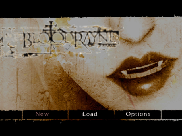 BloodRayne GameCube Main menu