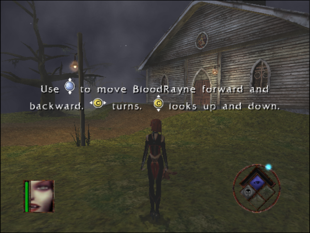 BloodRayne GameCube Starting the game