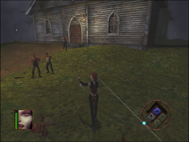 BloodRayne GameCube Shooting the baddies