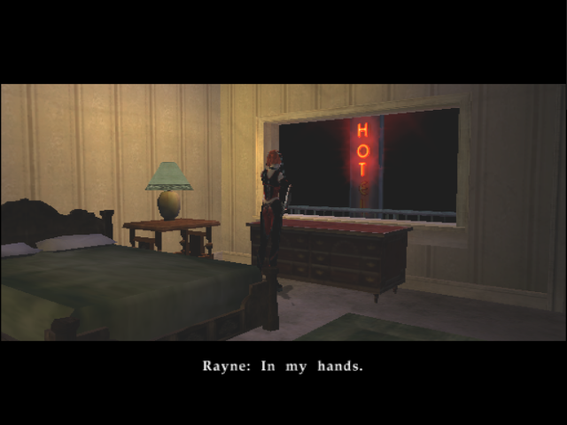 BloodRayne GameCube Rayne in a hotel