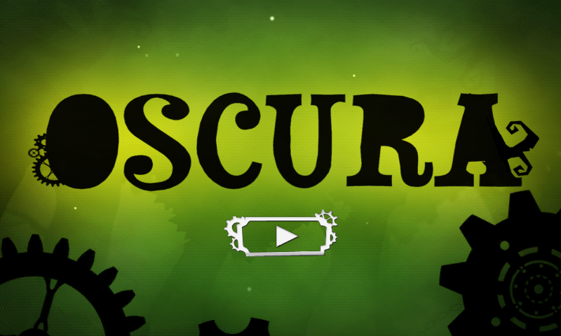 Oscura Android Title screen