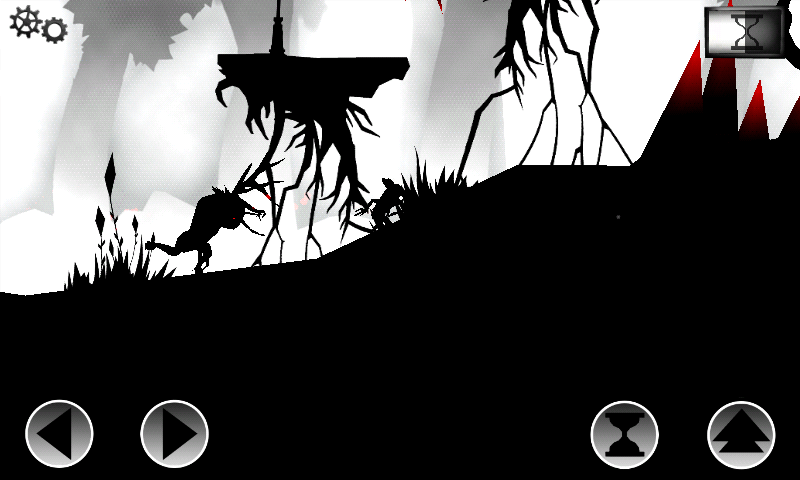 Oscura Android Running from a monster.