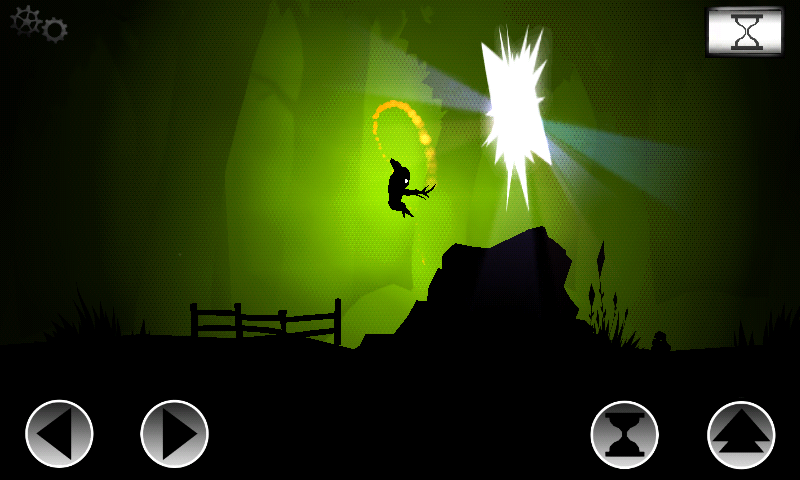 Oscura Android Jump inside to end the level.