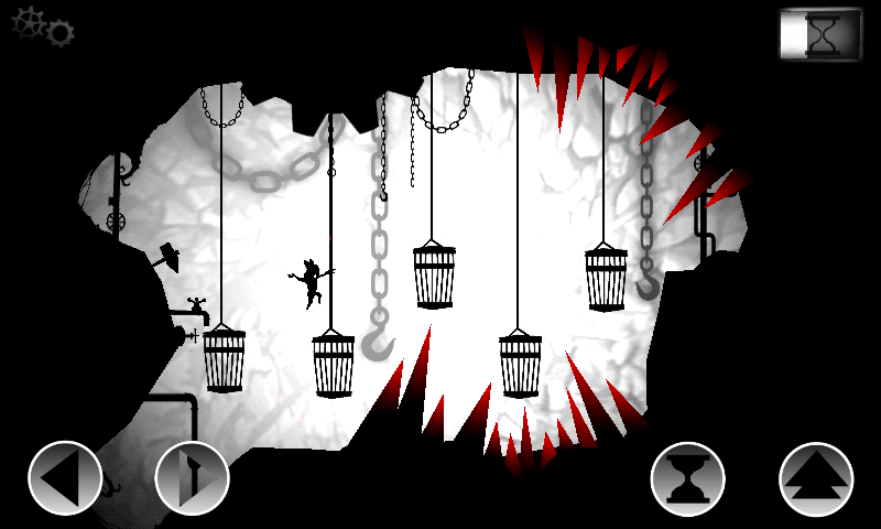 Oscura Android A difficult section with cages.