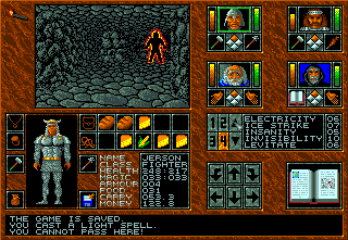 Abandoned Places: A Time for Heroes Amiga Fire villain