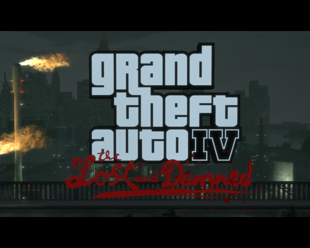 Grand Theft Auto IV: The Lost and Damned Windows Title screen