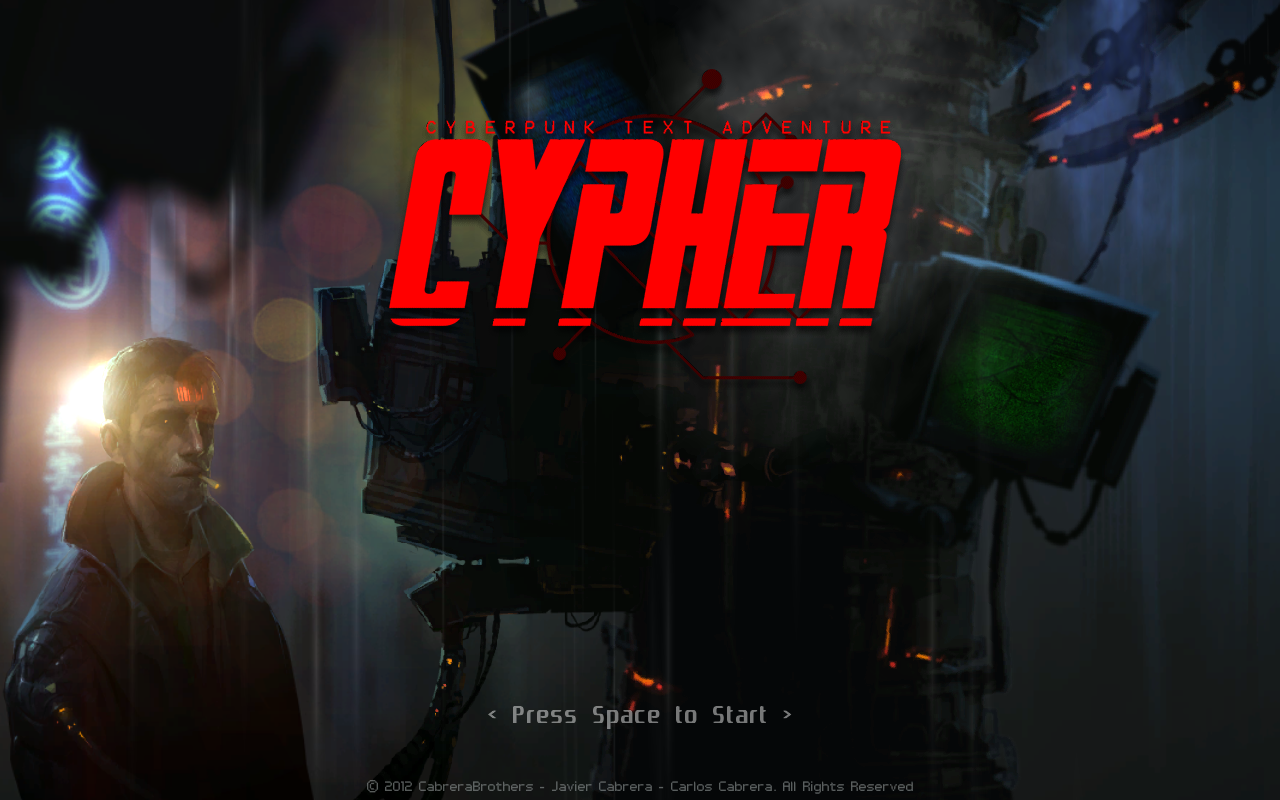 Cypher Windows Main screen