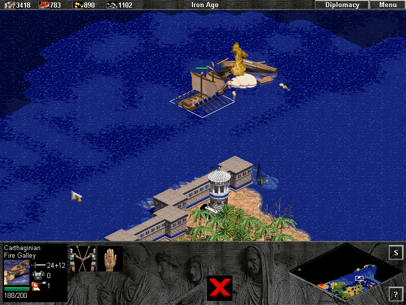 Age of Empires: The Rise of Rome (Demo Version) Windows Whoosh! That was a Roman Catapult Trireme by the way.