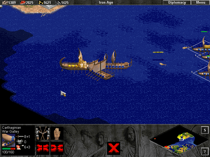 Age of Empires: The Rise of Rome (Demo Version) Windows In a naval battle, it is wise to support Fire Galleys with other ships, or else the enemy might try to take advantage of their range and take out the slower Fire Galleys with hit-and-run tactics.