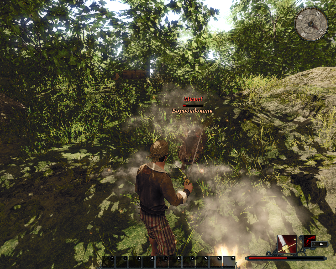 Risen 2: Dark Waters Windows You'll miss a lot until you master your guns