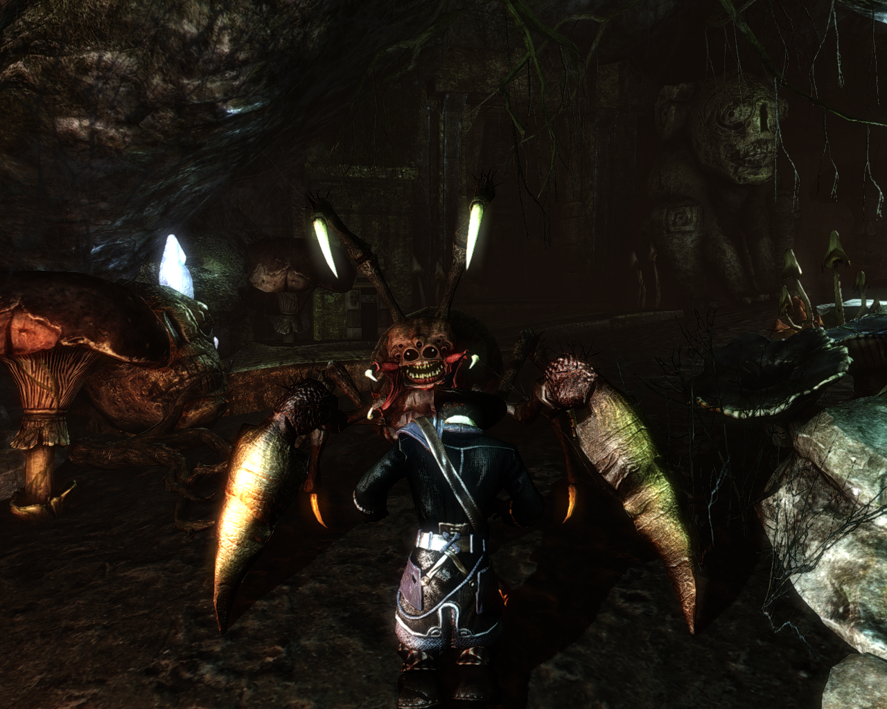 Risen 2: Dark Waters Windows This spider-like creature seems to be smiling