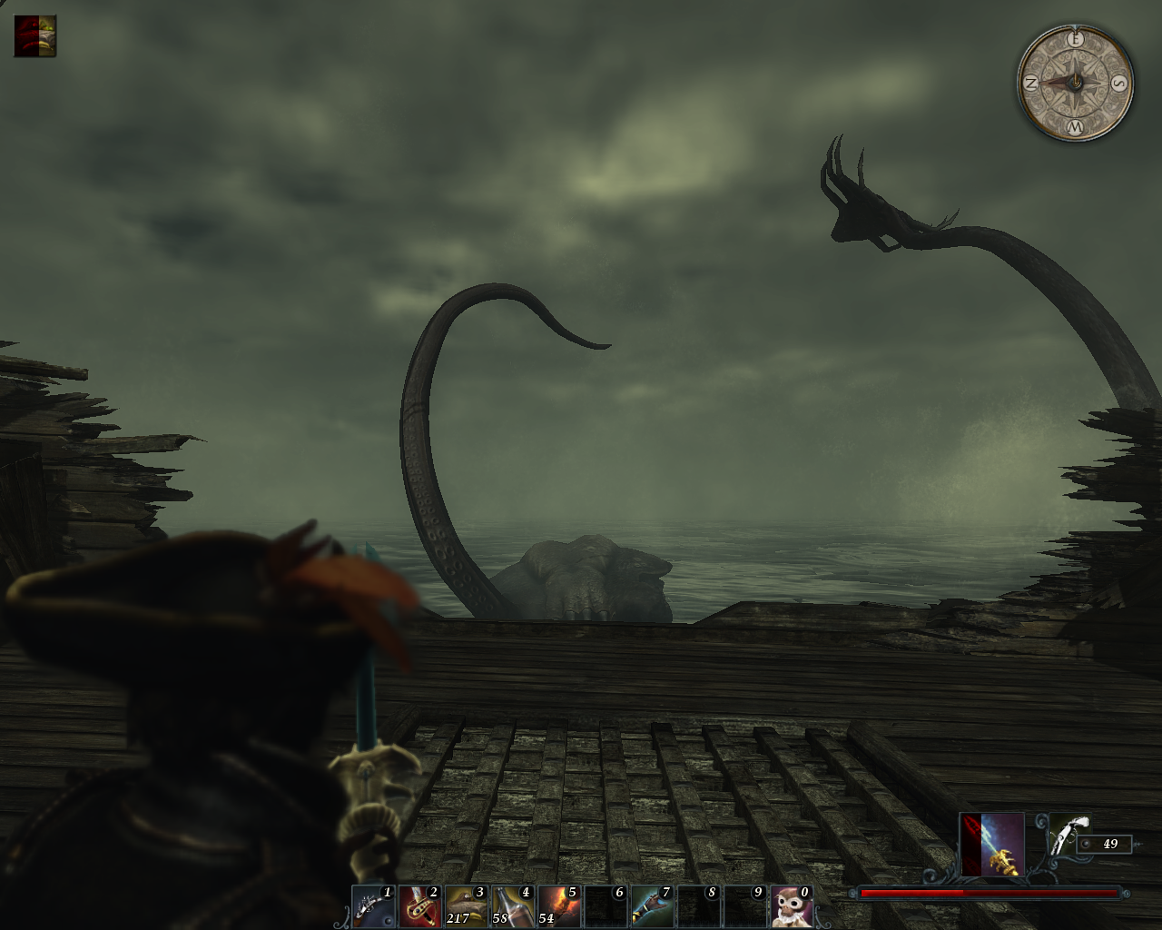 Risen 2: Dark Waters Windows The ship attacked by Kraken