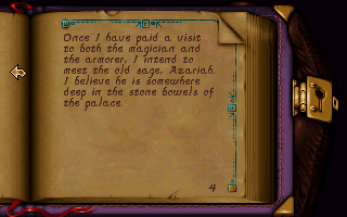 Anvil of Dawn DOS A handy journal automagically notes your quests