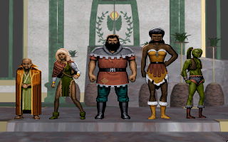 Anvil of Dawn DOS Choose from 5 champions of different sex, origin and... height! Even a non-human! Sadly, only 3 voices are used...