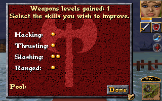 Anvil of Dawn DOS Assigning weapons skills