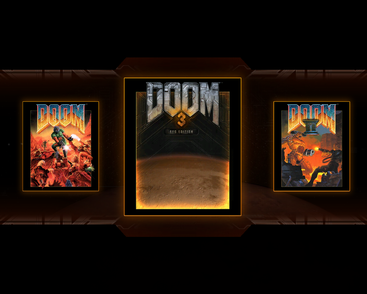 DOOM³: BFG Edition Windows Compilation main menu: choose a game to play
