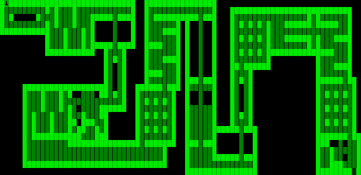 One Hundred and One Monochrome Mazes DOS The first and easiest maze